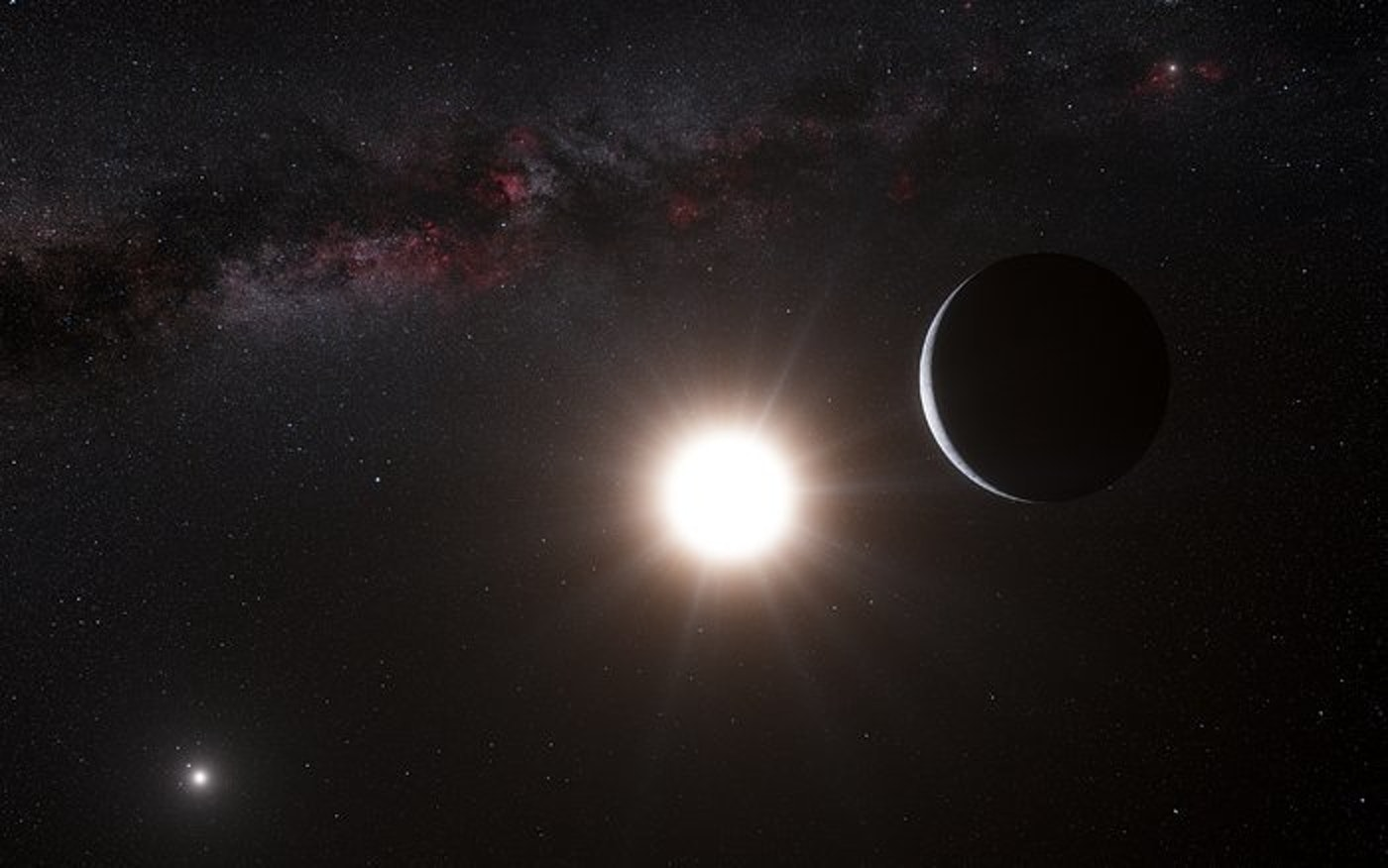 Artist's rendition of a planet in orbit around Alpha Centauri.