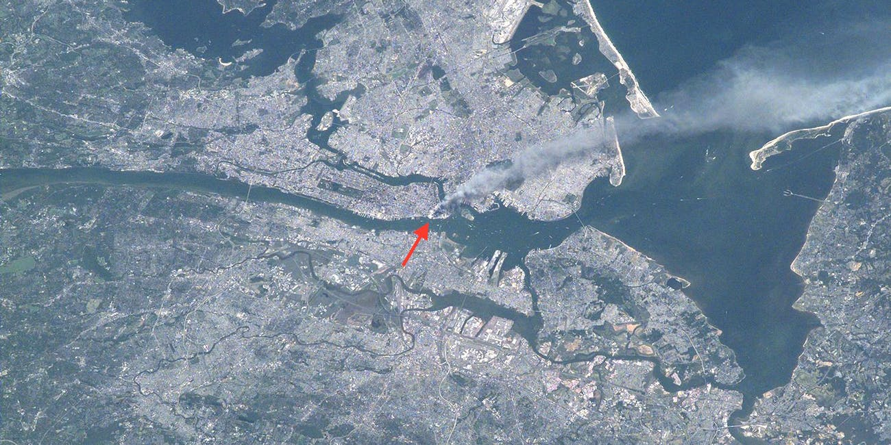 9/11 nyc from space