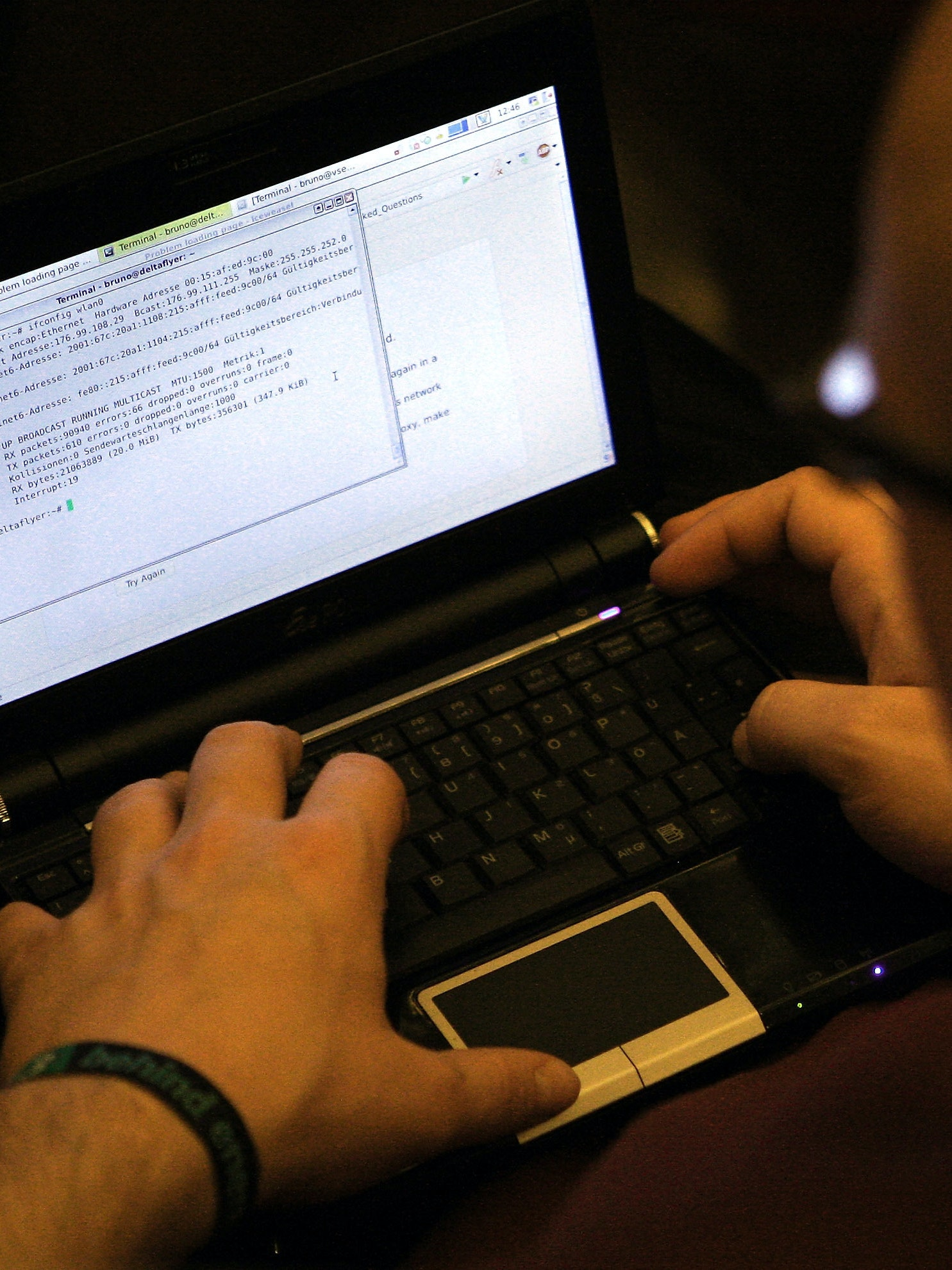 BERLIN, GERMANY - DECEMBER 27:  A participant looks at lines of code on a laptop on the first day of the 28th Chaos Communication Congress (28C3) - Behind Enemy Lines computer hacker conference on December 27, 2011 in Berlin, Germany. The Chaos Computer Club is Europe's biggest network of computer hackers and its annual congress draws up to 3,000 participants.  (Photo by Adam Berry/Getty Images)