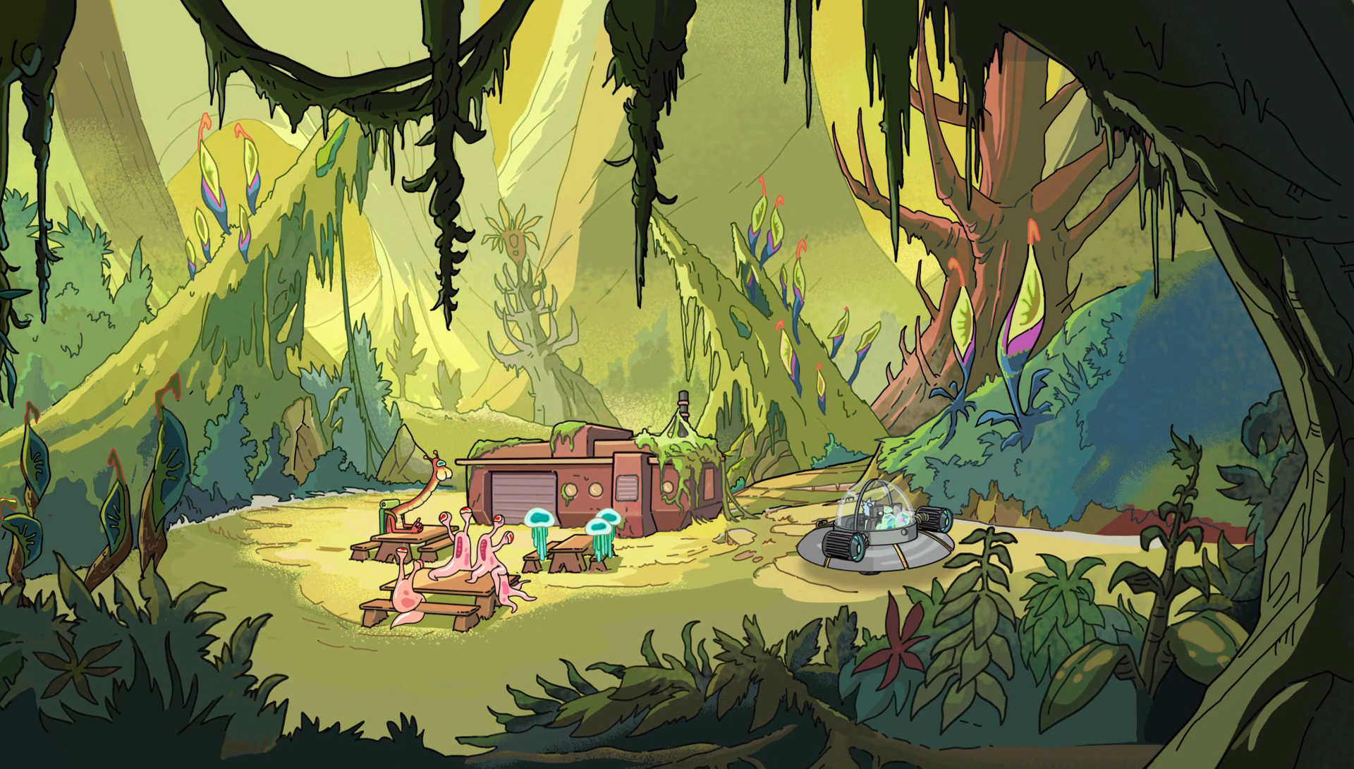 It wouldn't be the first time Rick and Morty ventured into a jungle.