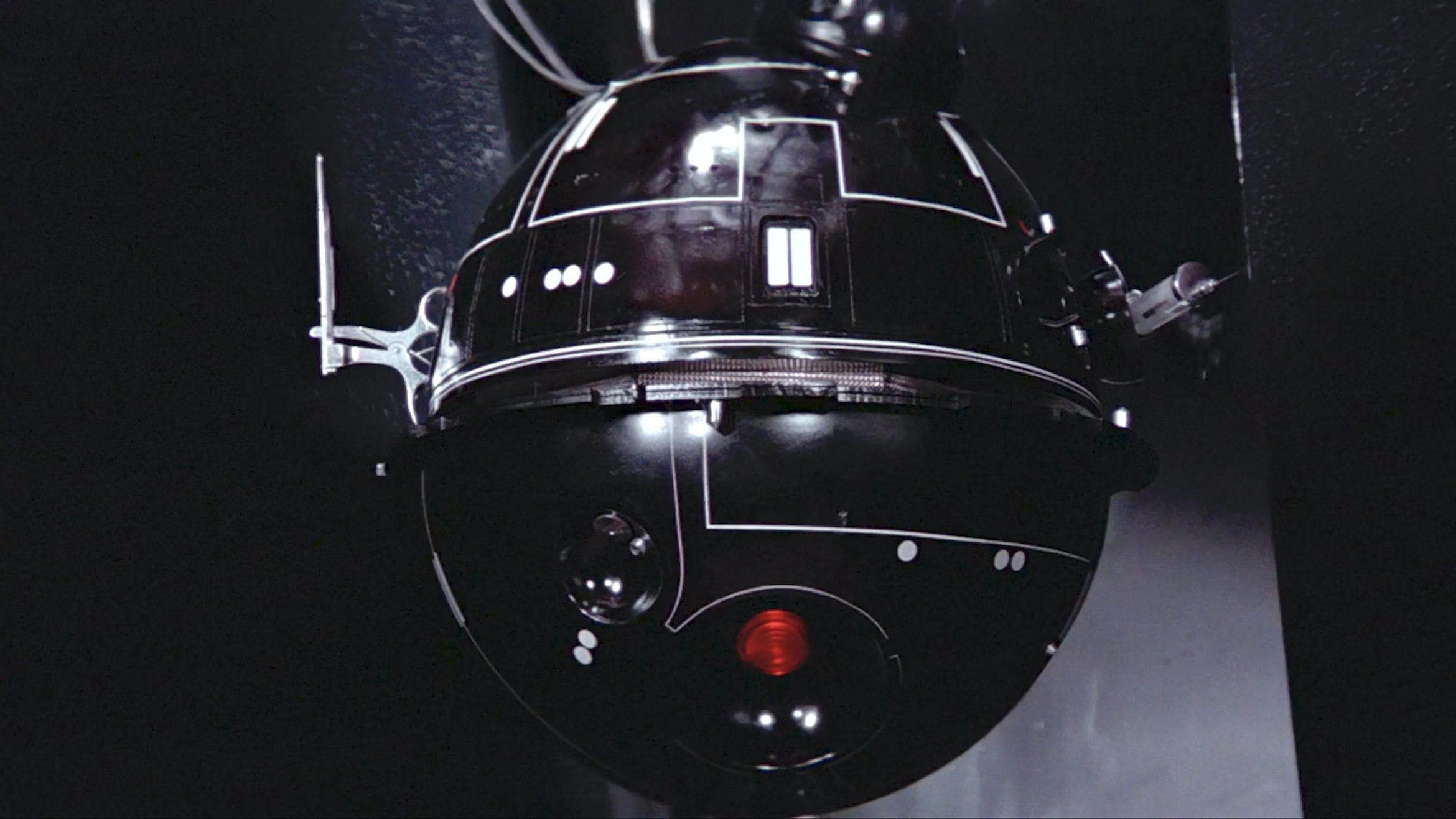 The interrogator droid from 'A New Hope.'