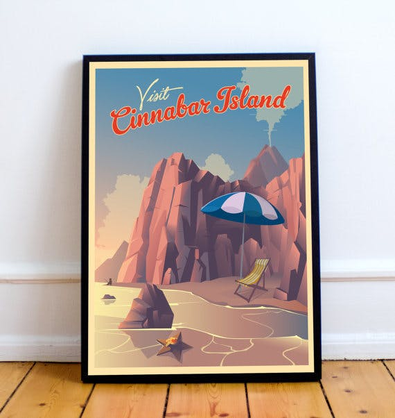 Pokemon Travel Poster