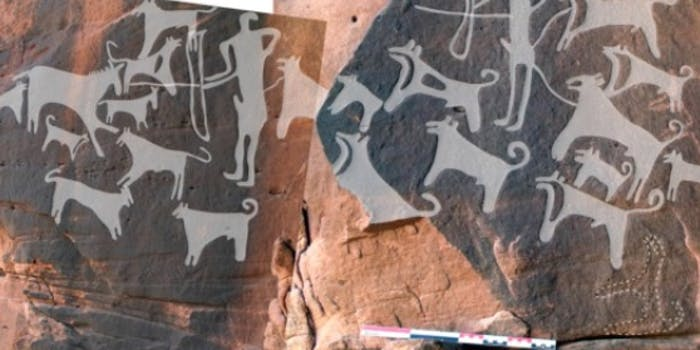 Archeologists find evidence of dog-assisted strategies in Arabia.