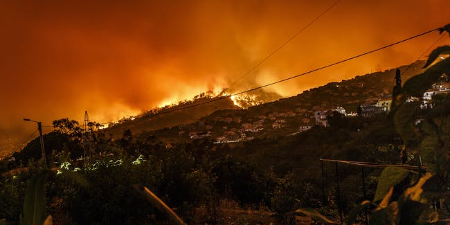 wildfire wild fire climate change drought power line red flame trump environment weather extreme
