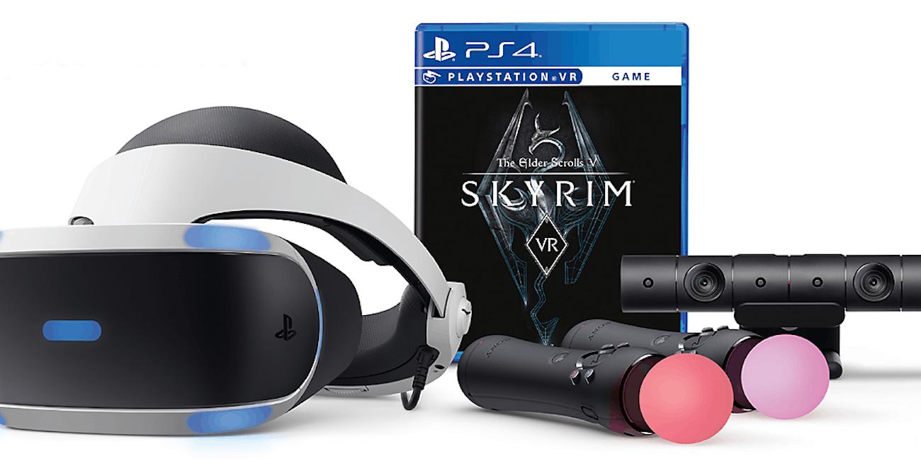 Sony PlayStation VR headset PSVR Skyrim bundle