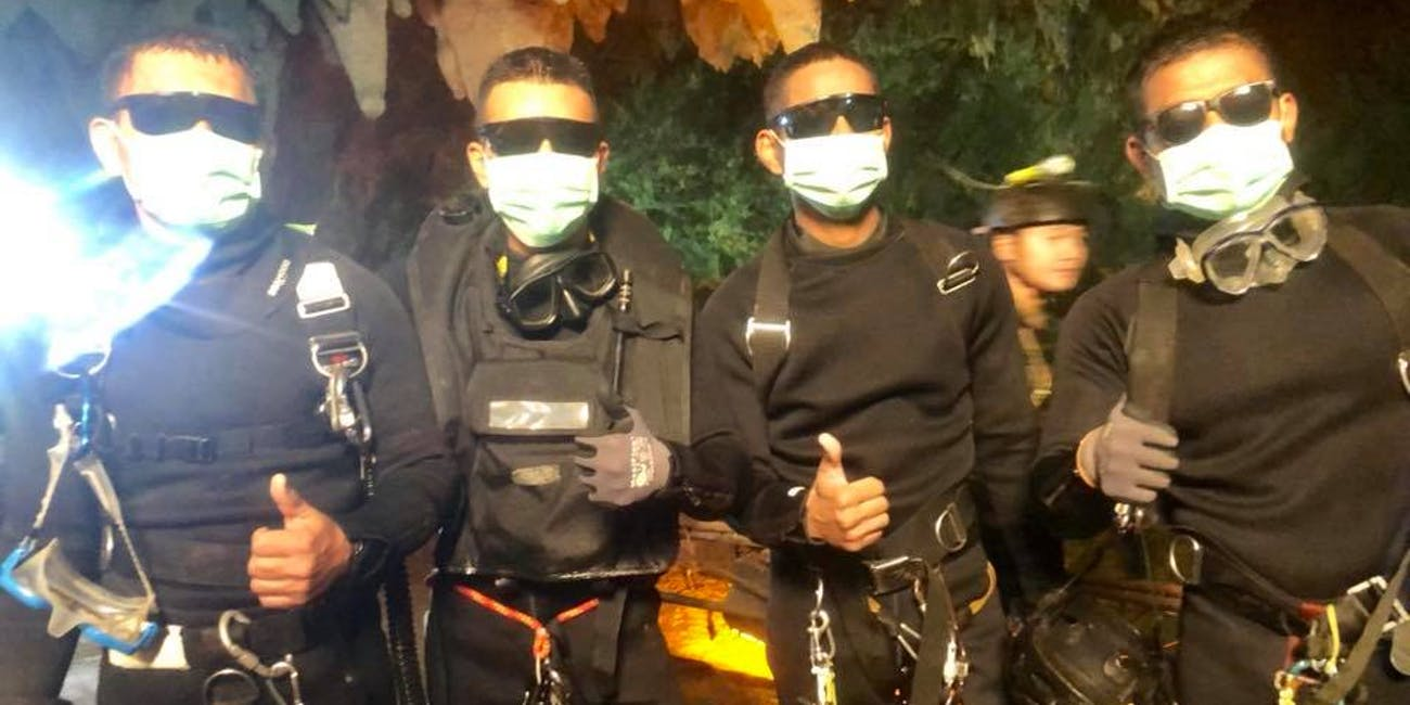 Thai Navy SEALs from the Tham Luang cave rescue