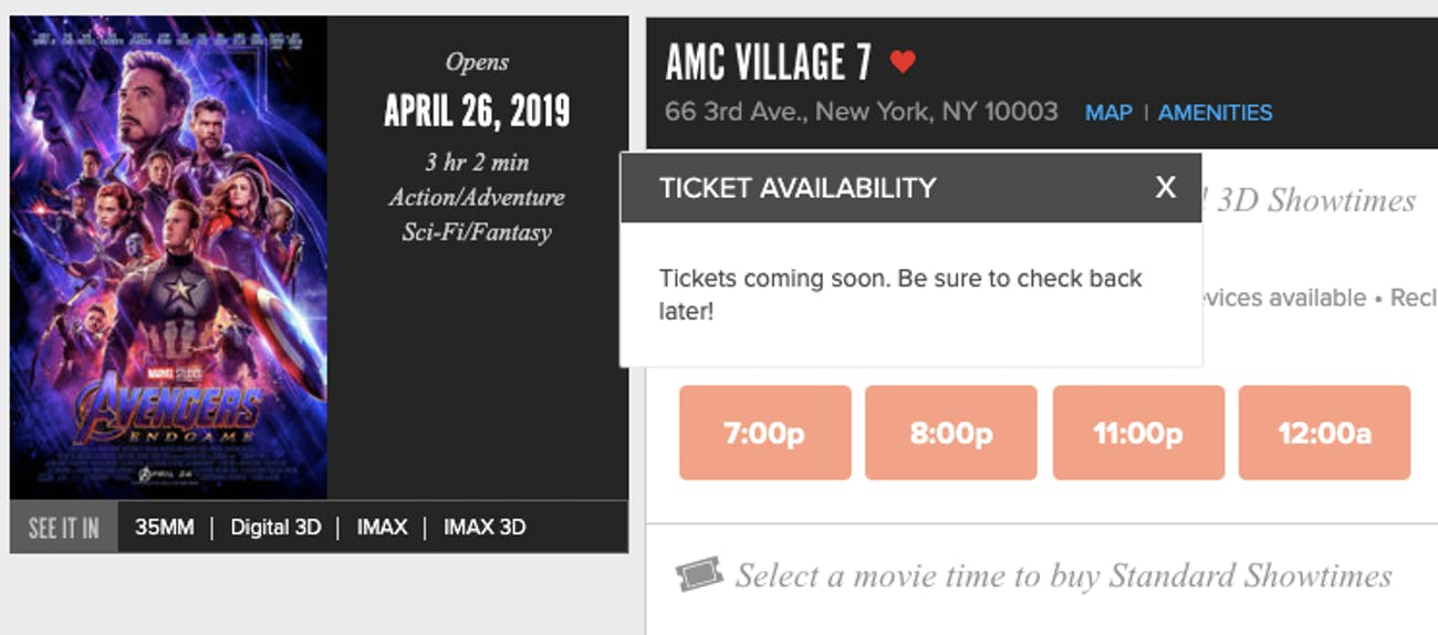 Avengers Endgame Ticket Sales Release Date May Be Tomorrow What
