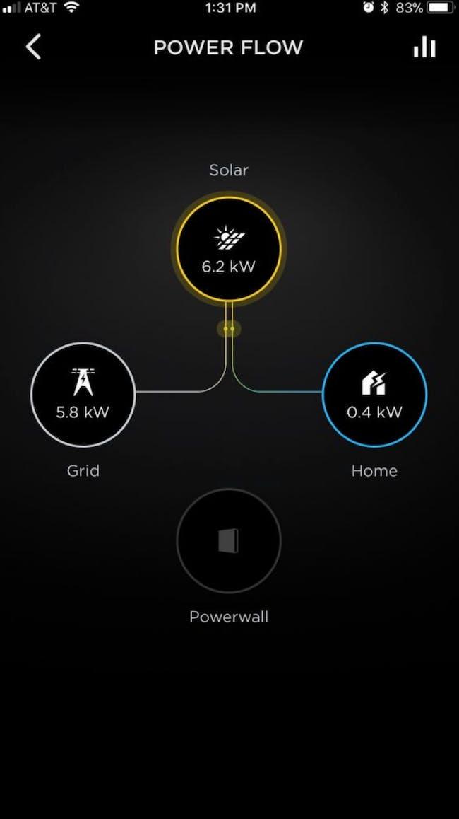 The Tesla Solar app.