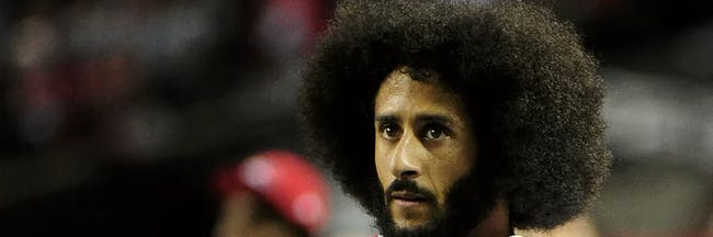 Football player Colin Kaepernick gave away free suits to former prison inmates.