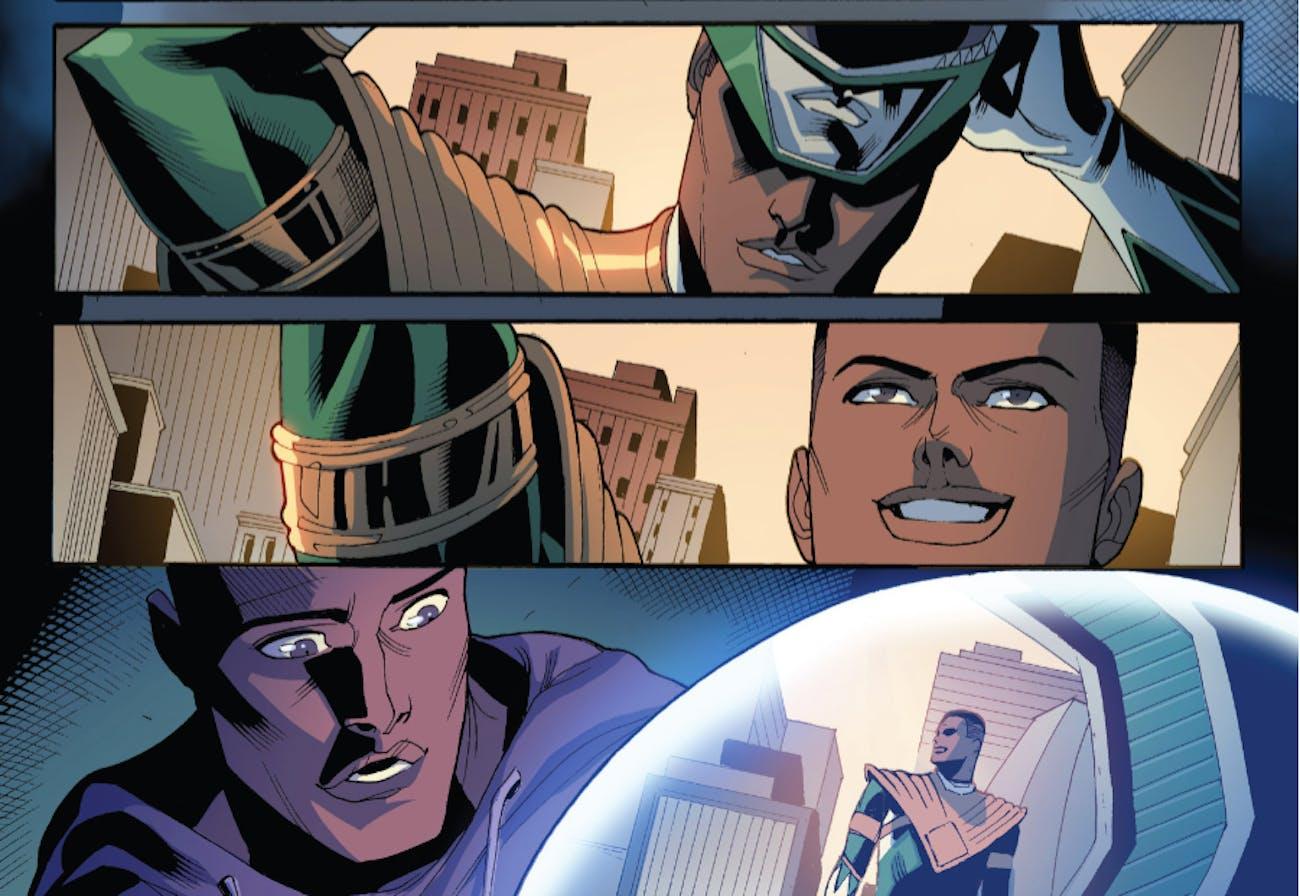 Zack Power Rangers Green