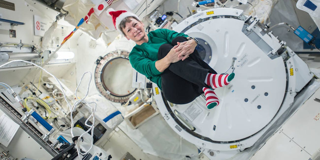 A look at how astronauts celebrate Christmas in space.