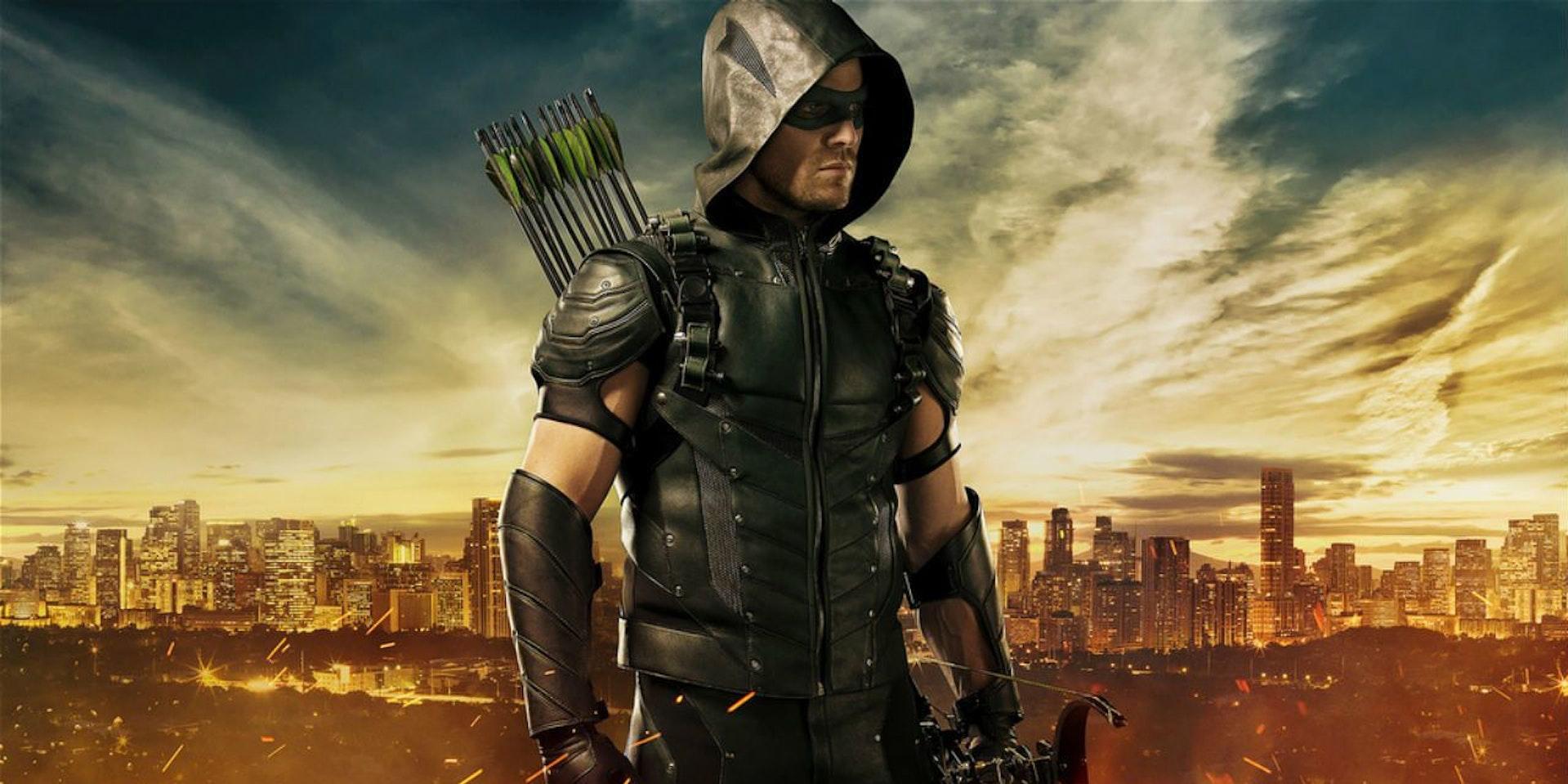 Stephen Amell as Arrow.