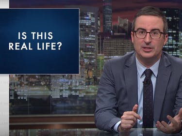 "'Stupid Watergate': John Oliver Takes on ""Insane"" Week in Politics"