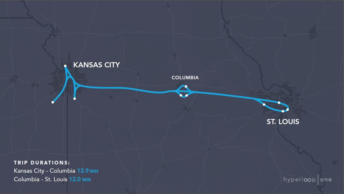 Here are the 11 Proposed Hyperloop One Routes in the US Inverse