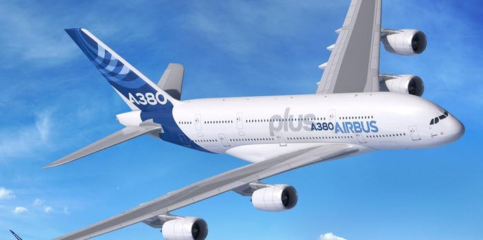 Airbus A380plus jet passenger airplane