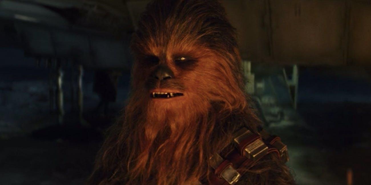 Chewbacca in 'The Last Jedi'