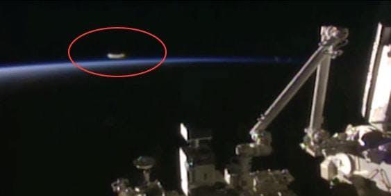 space dandruff ISS