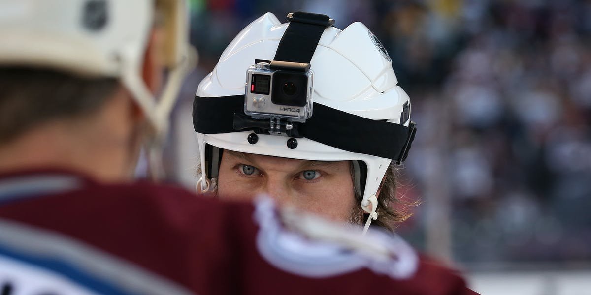 Helmet cams, like the one above, could change the angle on sports.