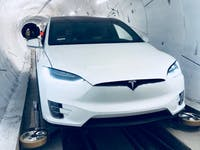 Tesla Model X boring company tunnel