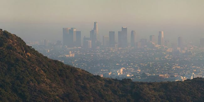 Los Angeles California air pollution smog
