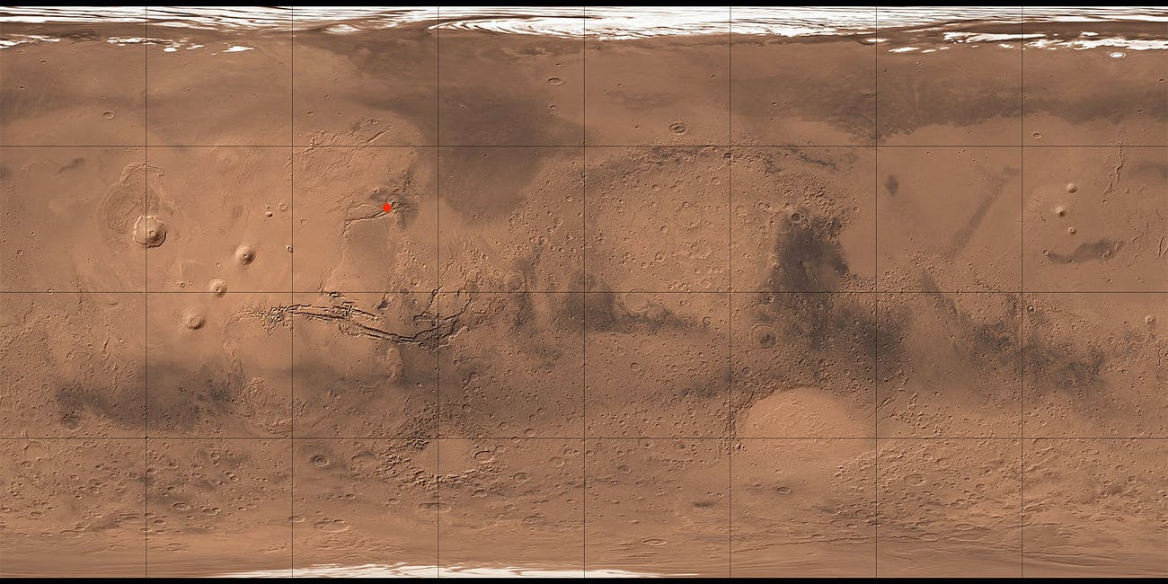 mars map lobo vallis