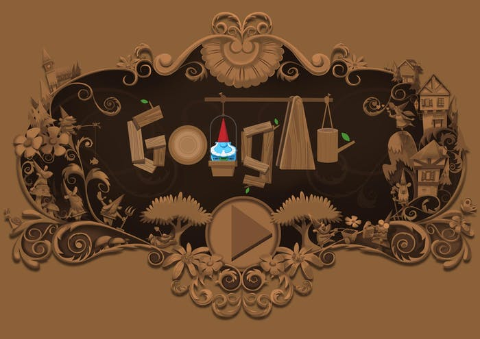 Garden Gnome google doodle