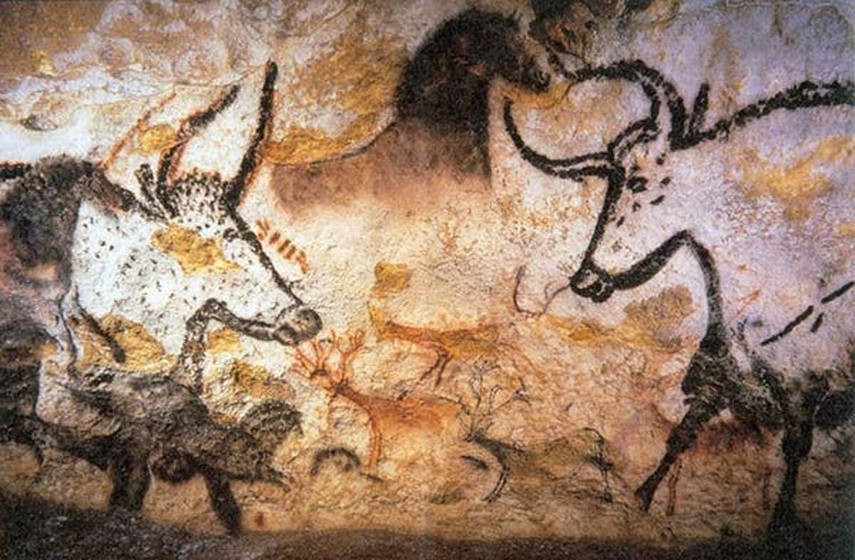 Humans hunted wild cattle, horses, and deer in France 17,000 years ago.