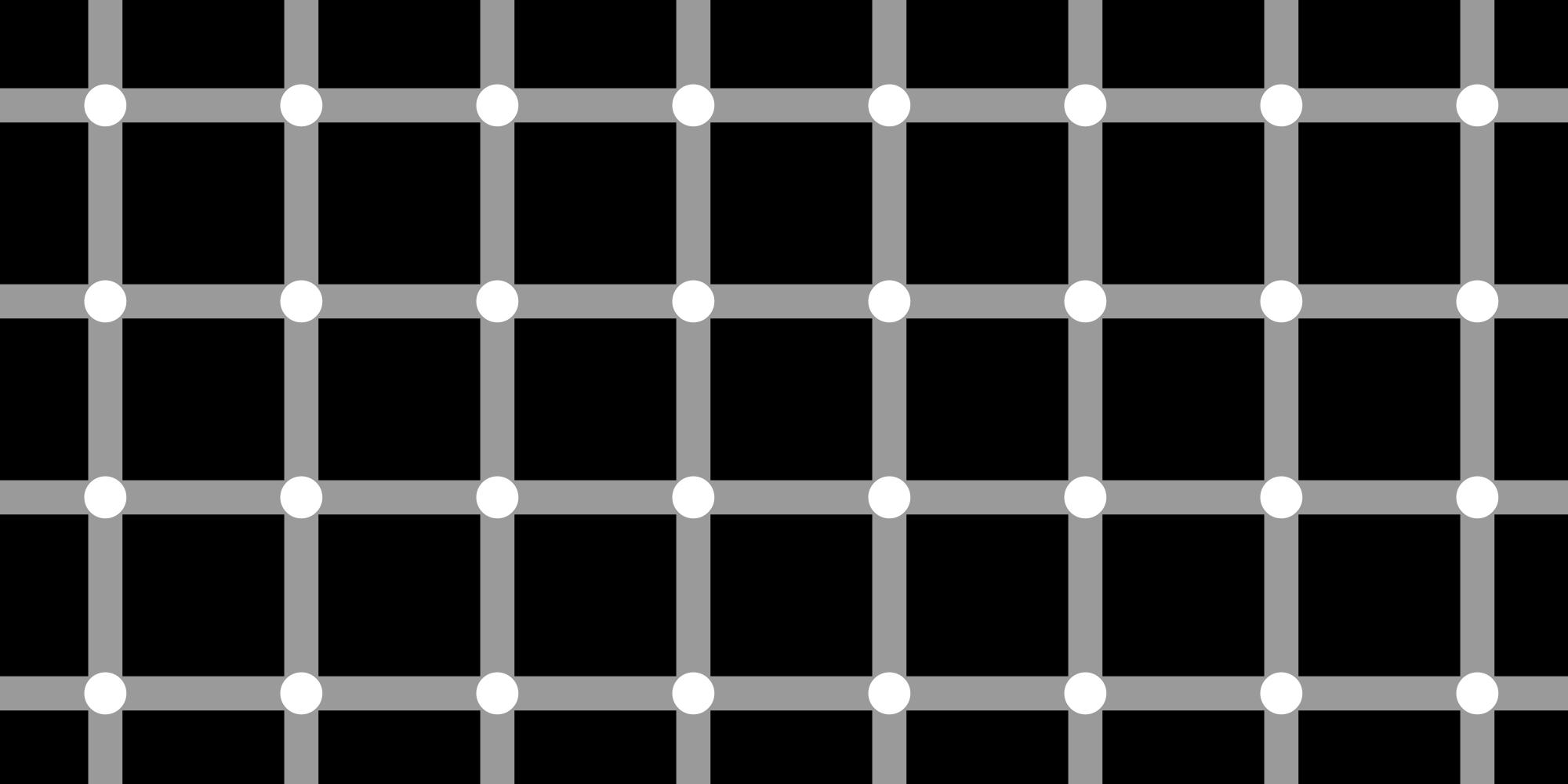 Hermann grid illusion.