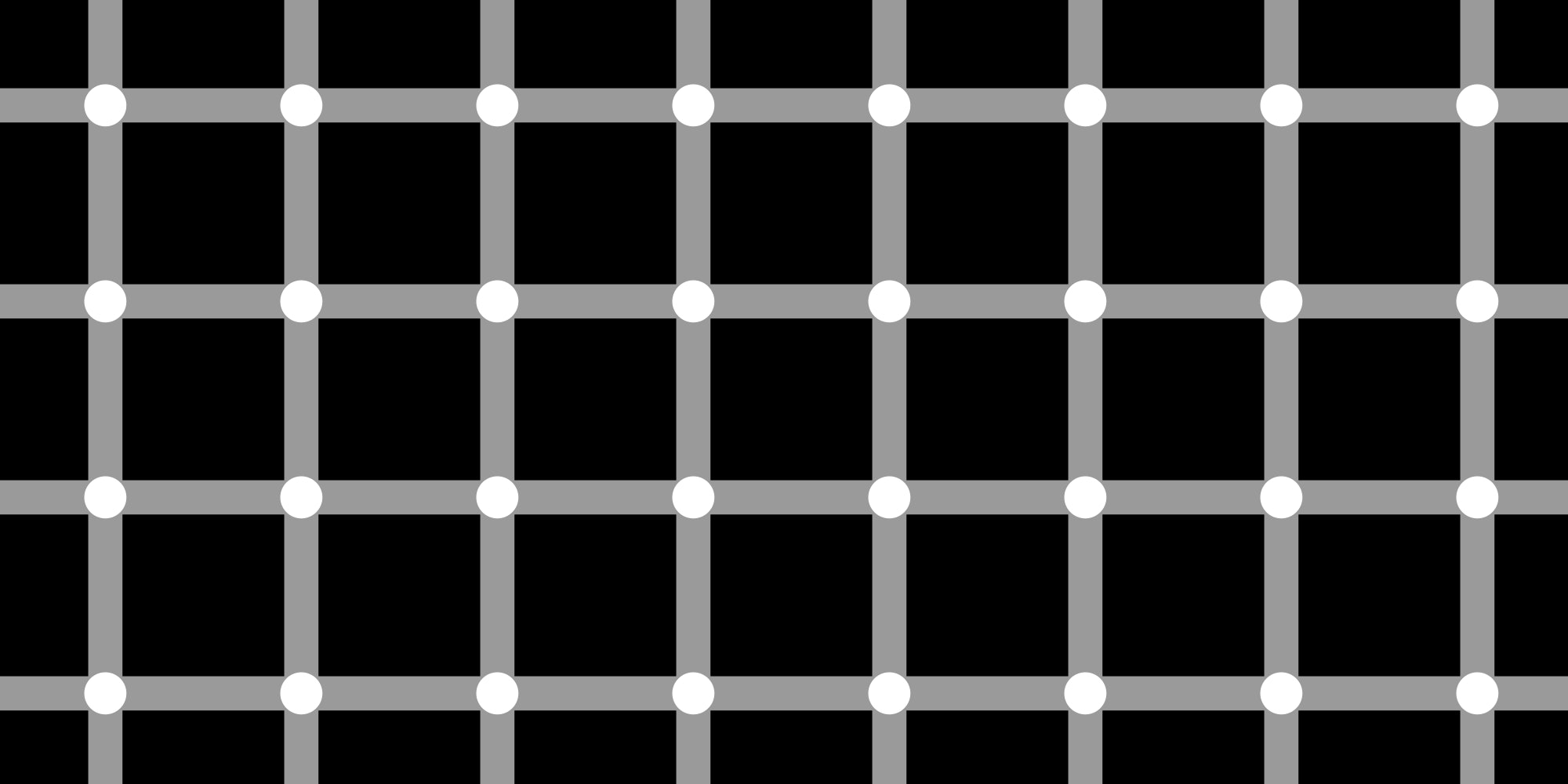 Hermann grid illusion.