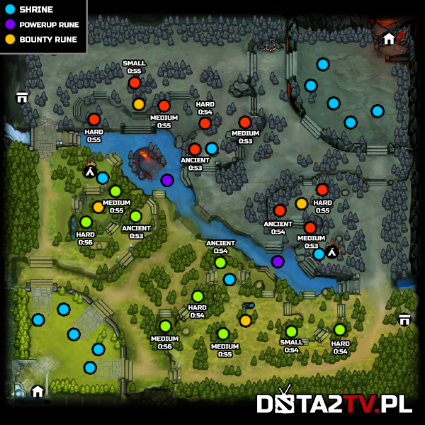 plan de la map  The-new-map-with-creep-spawns-and-pull-timers-marked