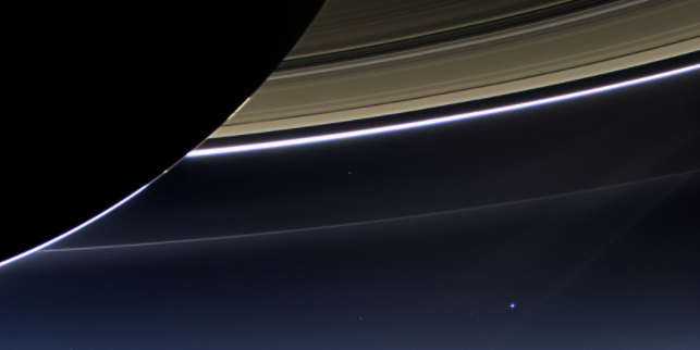 This Beautiful Photo of Saturn and Earth Will be Cassini's Legacy