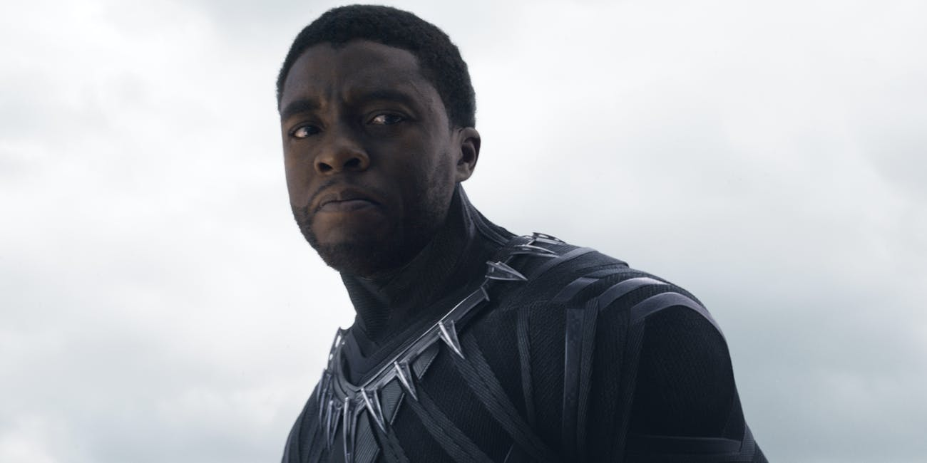 Chadwick Boseman as T'Challa, aka Black Panther, in 'Captain America: Civil War'