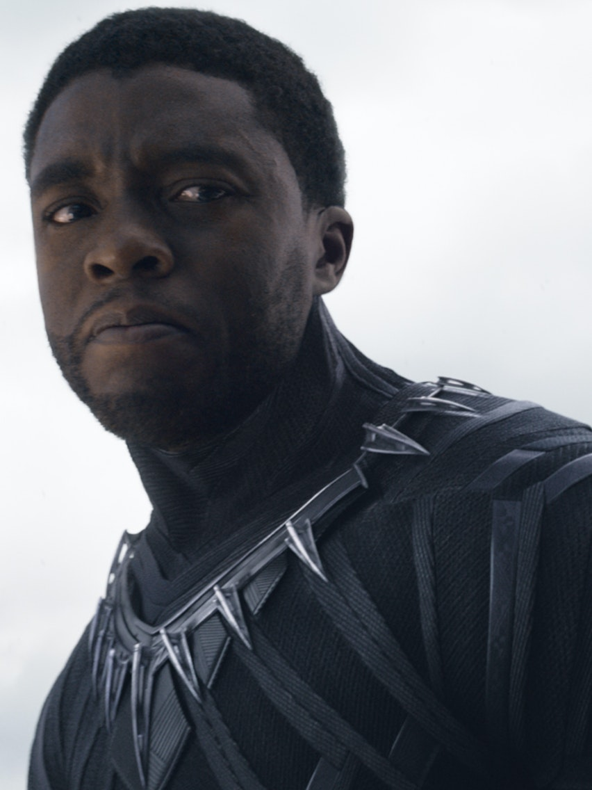 Chadwick Boseman as T'Challa, aka Black Panther, in 'Captain America: Civil War'