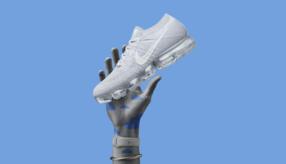 A model holds the Air VaporMax