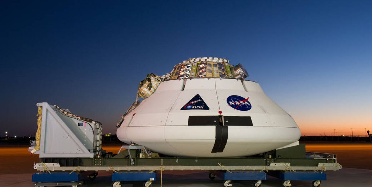 Orion mockup for parachute testing