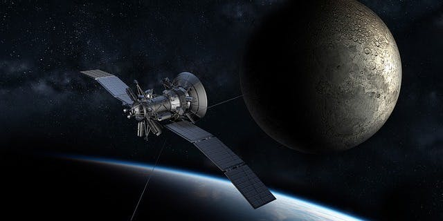 Satellite moon Earth orbit space 5G wifi connectivity internet