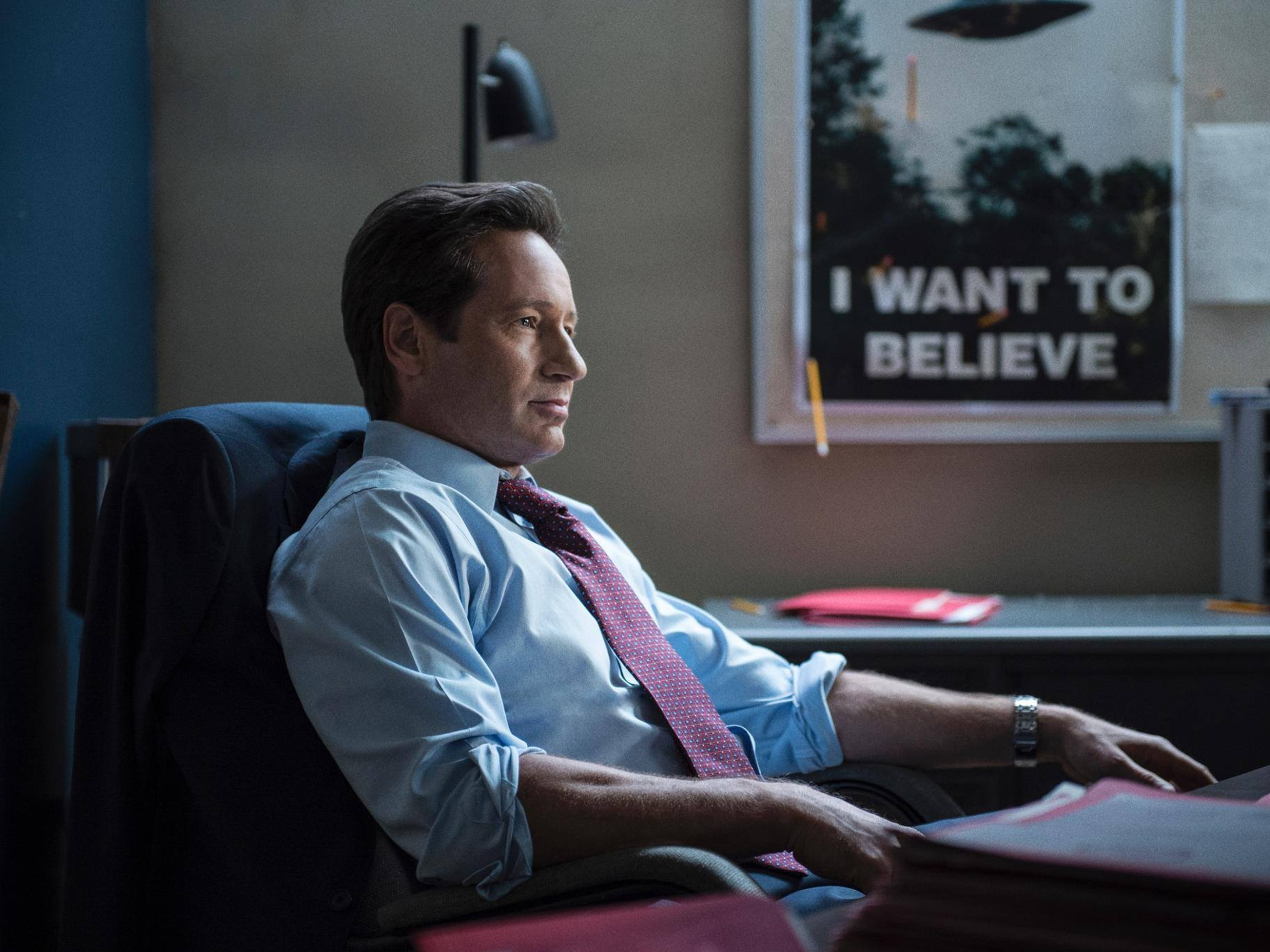 X-Files, Episode 3, Season 1, Were-Monster, Mulder, Scully