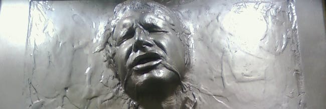 Han Solo trapped in carbonite