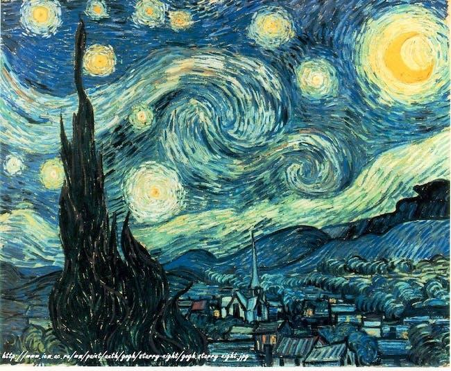 Starry Night von/from van Gogh