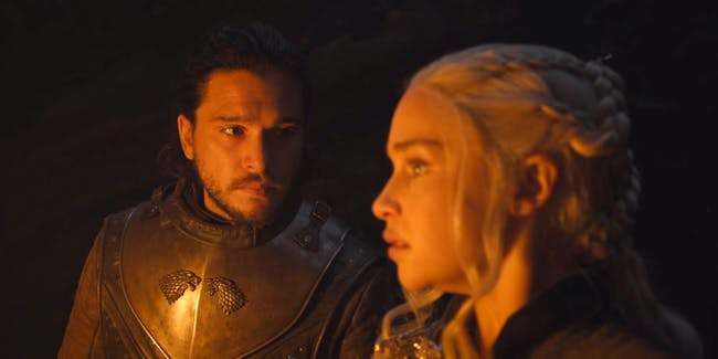 Kit Harington and Emilia Clarke in 'Game of Thrones' Season 7