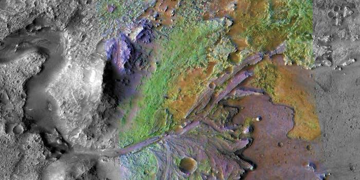 jezero crater map