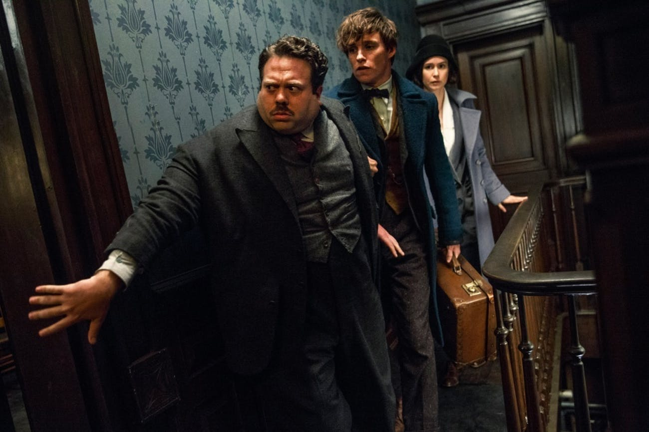 Newt, Tina and Jacob in 'Fantastic Beasts and Where to Find Them'