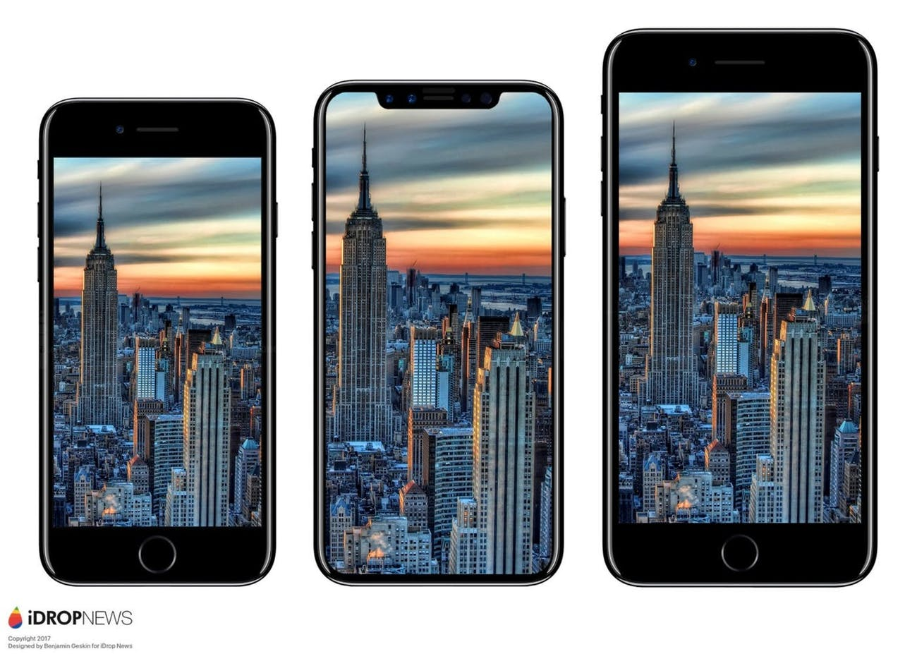 The iPhone 7, the rumored iPhone 8 and the iPhone 7 Plus