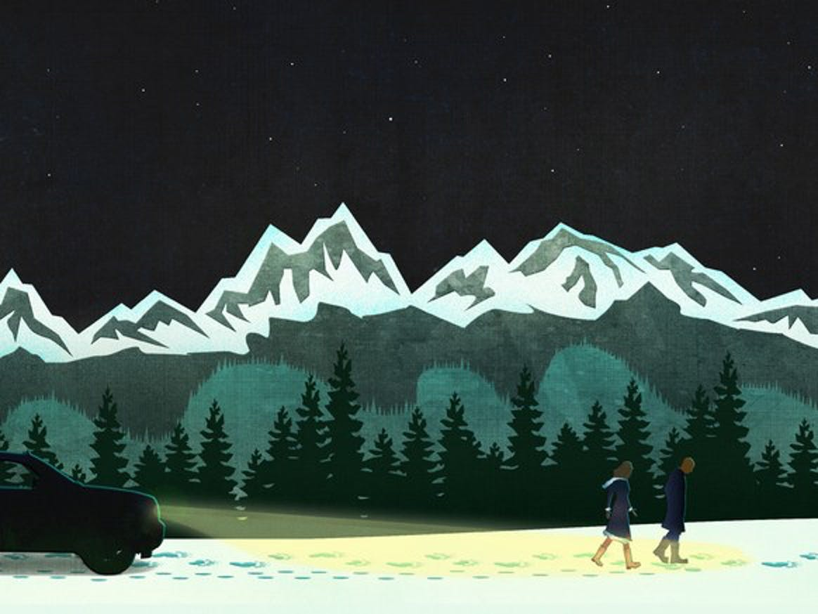 Agents Pierce and Marshall depicted in art for 'The Long Night'.