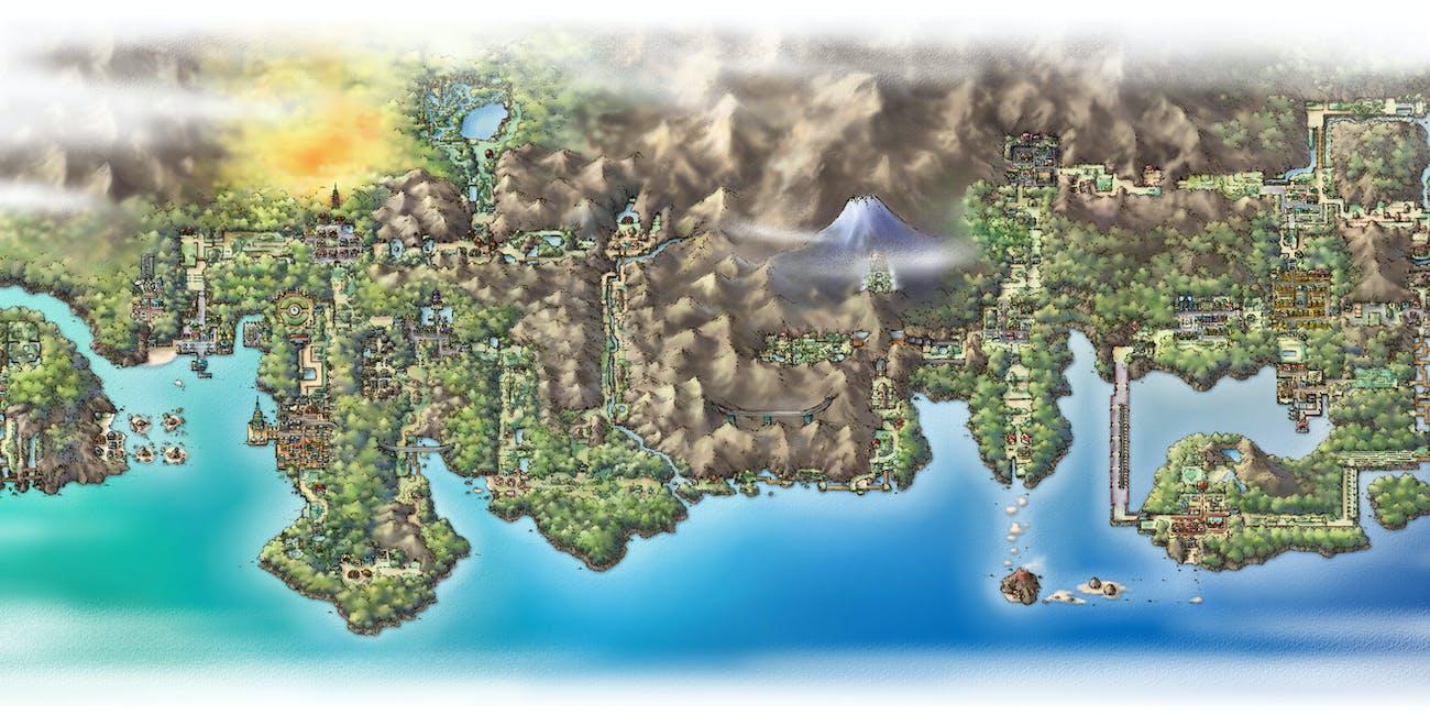 The Johto and Kanto Regions