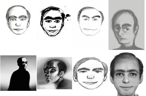 "Images of the same man from the creepypasta ""This Man""."