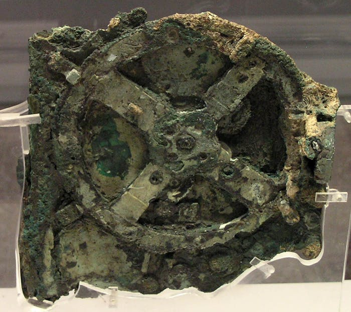 The Antikythera mechanism was discovered in 1901.