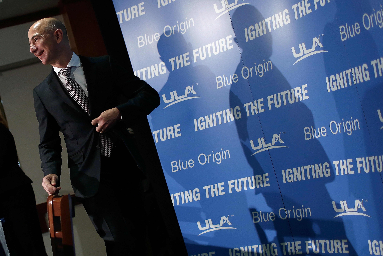 Jeff Bezos, the founder of Blue Origin and Amazon.com.