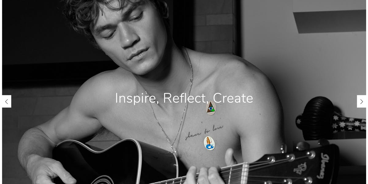 body vibes goop gwyneth paltrow bio frequency stickers inspire reflect create man shirtless guitar