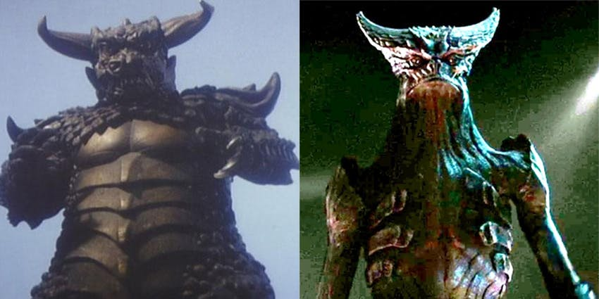 Pulgasari and the monster from 'Colossal'
